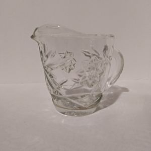 Vintage crystal star design creamer
